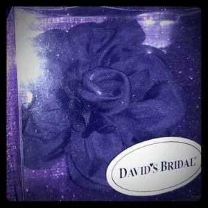 Davids Bridal Lapis Purple Flower Pin